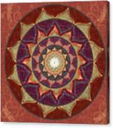Realm Of The Desert Lotus Mandala Canvas Print