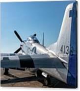 Rebel On The Ramp - 2017 Christopher Buff,www.aviationbuff.com Canvas Print