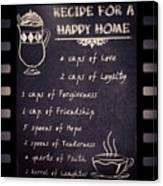 Recipe For A Happy Home Recipe Happy Wood Print By Fotochoice