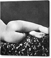 Reclining Nude: Rear View Canvas Print