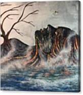 Reclining Pele Canvas Print