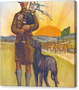 Recruitment Poster The Call To Arms Irishmen Dont You Hear It Canvas Print