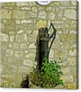 Rectory Mansion And Hand Pump - Brading Canvas Print