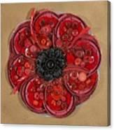 Recycled Poppy Canvas Print