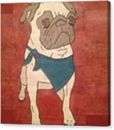Recycled Pug Canvas Print