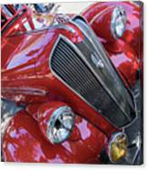 Red 1938 Plymouth Canvas Print