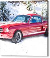 Red 1966 Ford Mustang Shelby Canvas Print