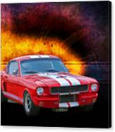 Red 1966 Mustang Fastback Canvas Print