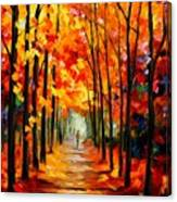 Red Alley Canvas Print