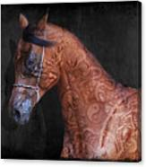 Red Ancient Horse No 01 Canvas Print