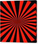 Red And Black Abstract #3 Canvas Print