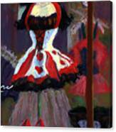 Red And Black Jester Costume Canvas Print