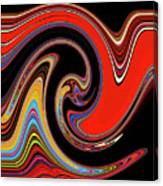 Red And Black Stream  Canvas Print
