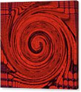 Red And Black Swirl - Modern/contemporary Painting Canvas Print