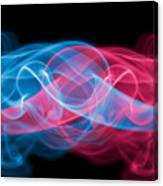 Red And Blue Smoke Canvas Print