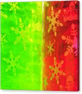 Red And Green With A Snowflake Pattern Canvas Print