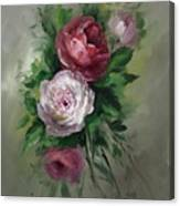 Red And White Roses Canvas Print
