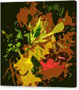 Red And Yellow Flowers Abstract Canvas Print