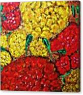 Red And Yellow Garden Canvas Print