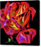 Red And Yellow Rose Fractal Canvas Print