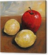 Red Apple And Lemons Canvas Print