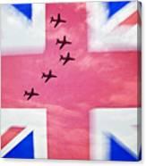 Red Arrows Flag Canvas Print