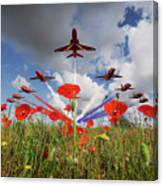Red Arrows Poppy Fly Past Canvas Print