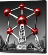 Red Atomium Canvas Print