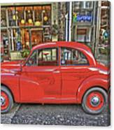 Red Morris Minor Canvas Print