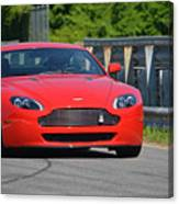 Red Auston Martin Leaving Pit Lane Canvas Print