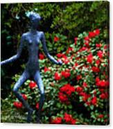 Red Azalea Lady Canvas Print
