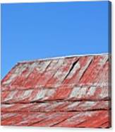 Red Barn And Blue Sky- Fine Art Canvas Print