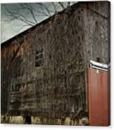 Red Barn Doors Canvas Print