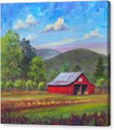 Red Barn in Fruitland Canvas Print