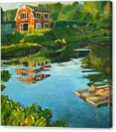 Red Barn In Kennebunkport Me Canvas Print