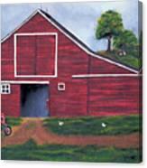 Red Barn In South Dakota Canvas Print