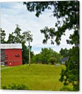 Red Barn In Upper  New York State. Canvas Print