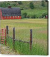 Red Barn Canvas Print