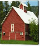Red Barn Montana Canvas Print
