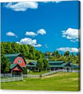 Red Barn On Hoyt Road Canvas Print