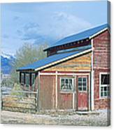Red Barn, Route 50, Nevada Canvas Print