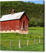 Red Barn With Cupola Canvas Print