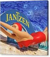 Red Bathing Suit Canvas Print