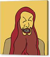 Red Bearded Man Canvas Print