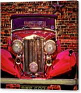 Red Bentley Convertible Canvas Print