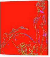 Red Biker Biatch Ps Canvas Print