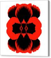 Red Black Botanical Summer Canvas Print