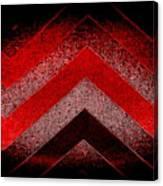 Red Black Chevron Canvas Print