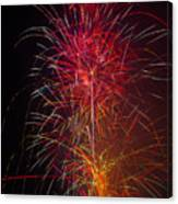 Red Blazing Fireworks Canvas Print