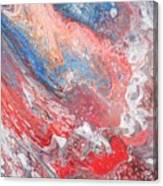 Red Blue White Abstract Canvas Print